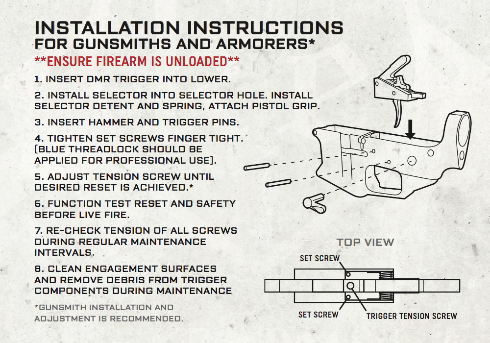 Ke Arms Trigger Installation Instructions
