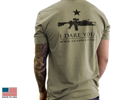 "T-Shirt - ""I Dare You"" (Olive Green)"