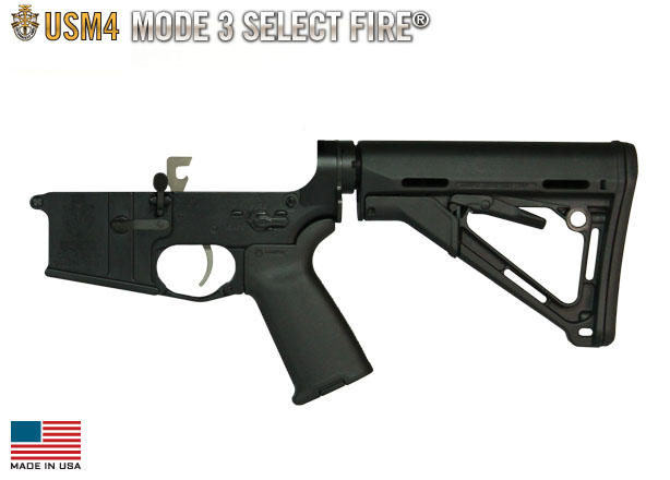 USM4 Mode 3 Select Fire® Complete Lower (Black)